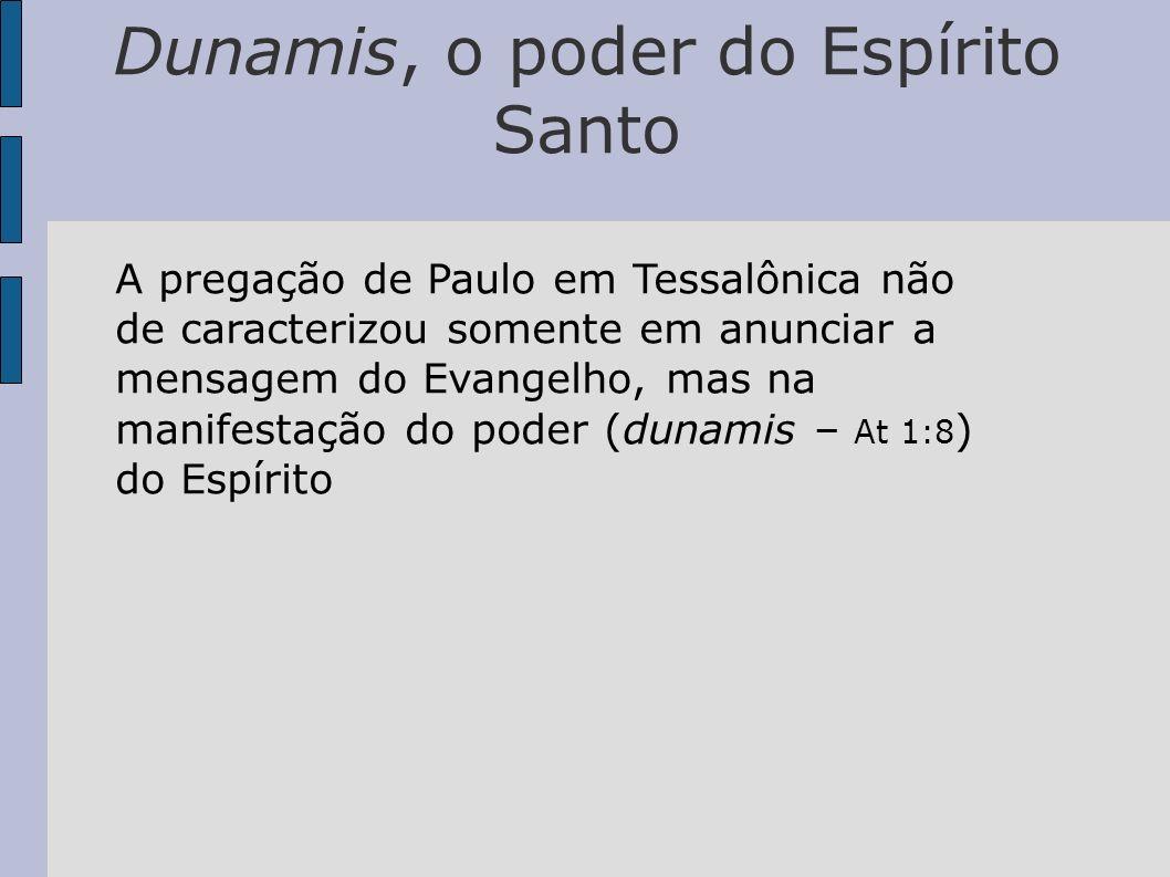 Dunamis, o poder do Espírito Santo