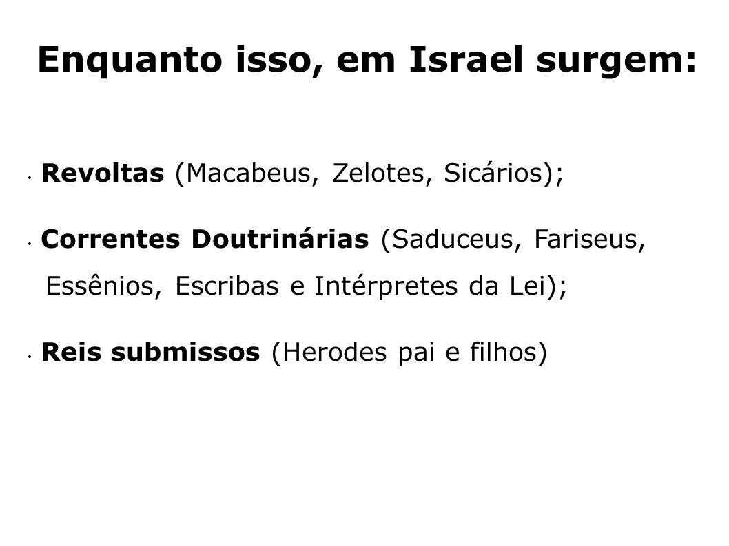 Enquanto isso, em Israel surgem: