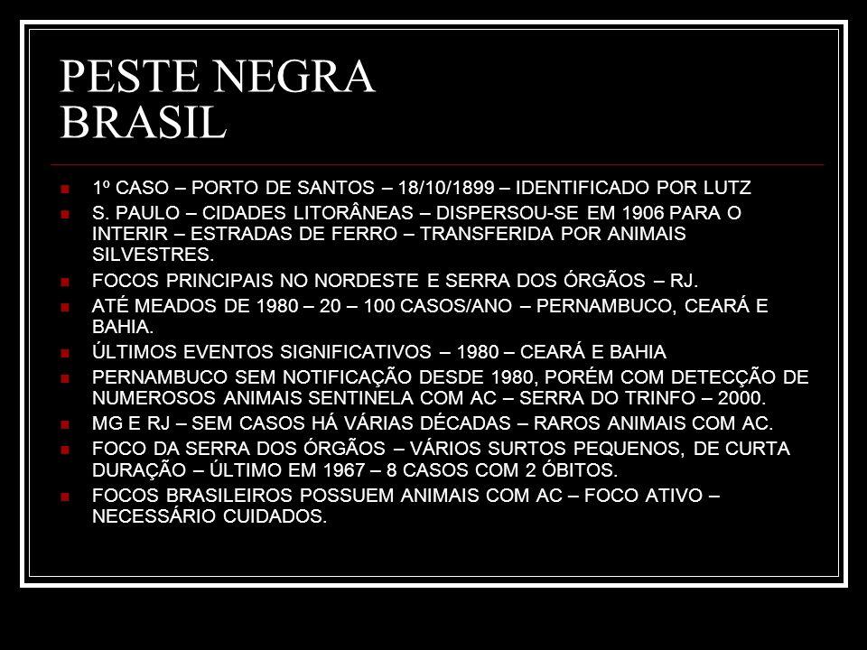 PESTE NEGRA BRASIL 1º CASO – PORTO DE SANTOS – 18/10/1899 – IDENTIFICADO POR LUTZ.