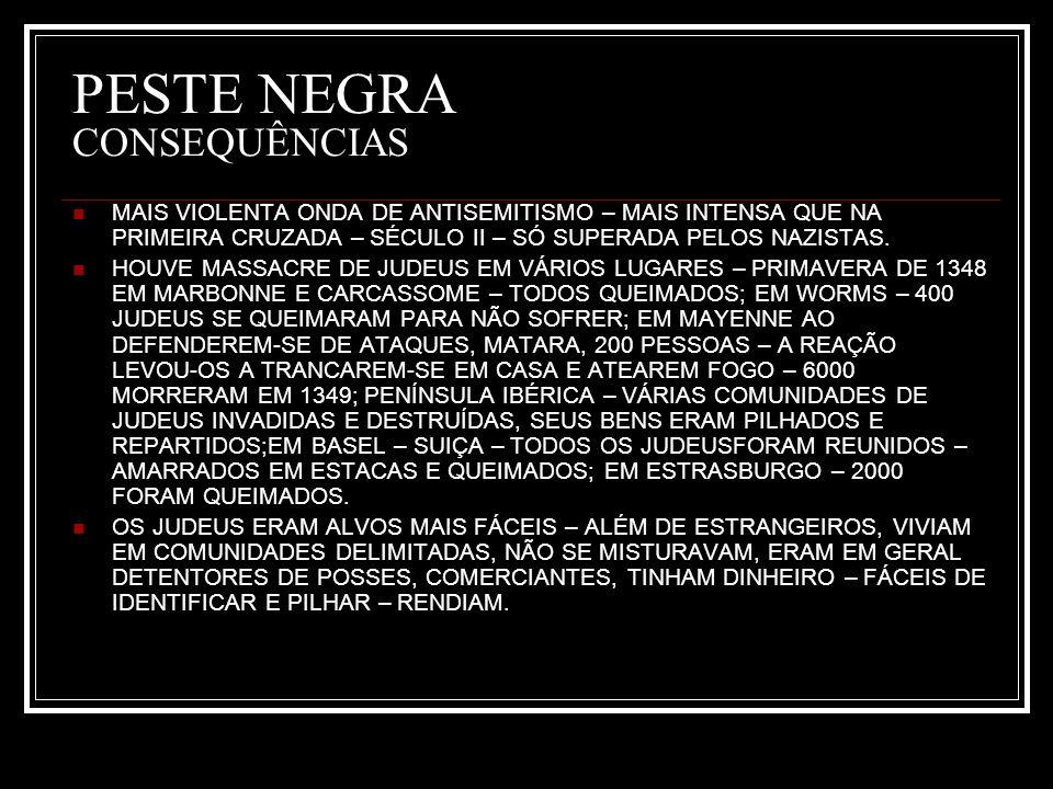 PESTE NEGRA CONSEQUÊNCIAS