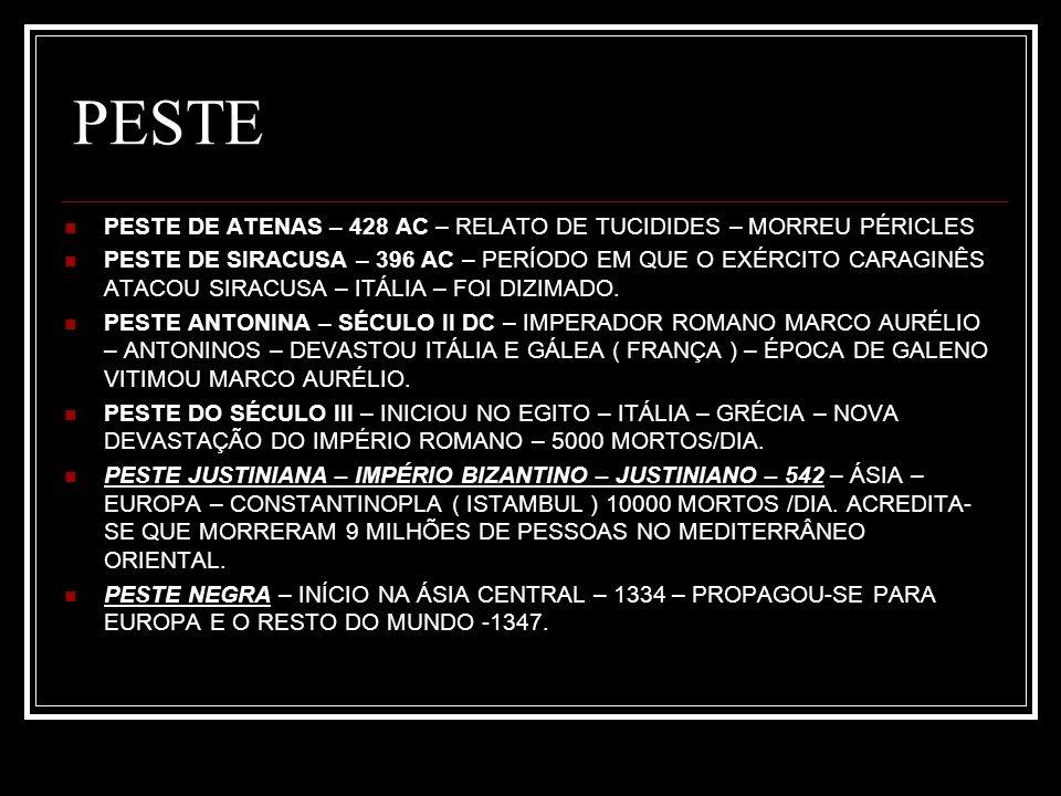 PESTE PESTE DE ATENAS – 428 AC – RELATO DE TUCIDIDES – MORREU PÉRICLES