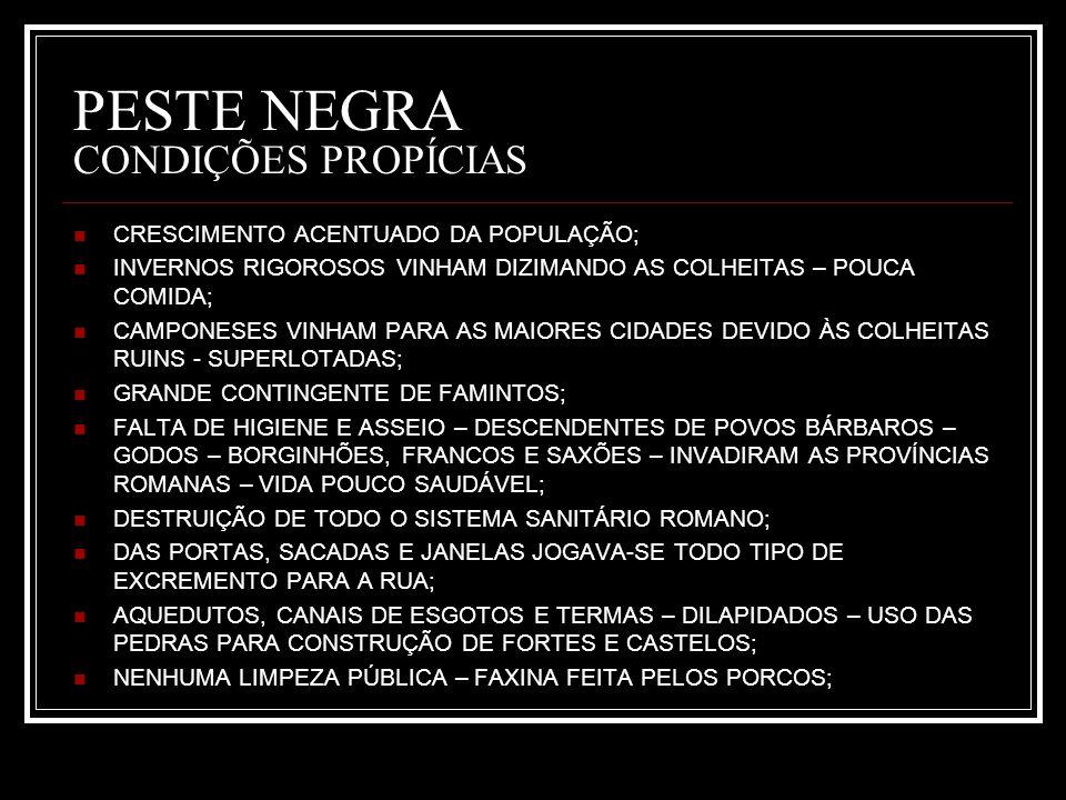 PESTE NEGRA CONDIÇÕES PROPÍCIAS