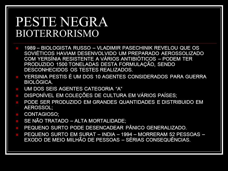 PESTE NEGRA BIOTERRORISMO