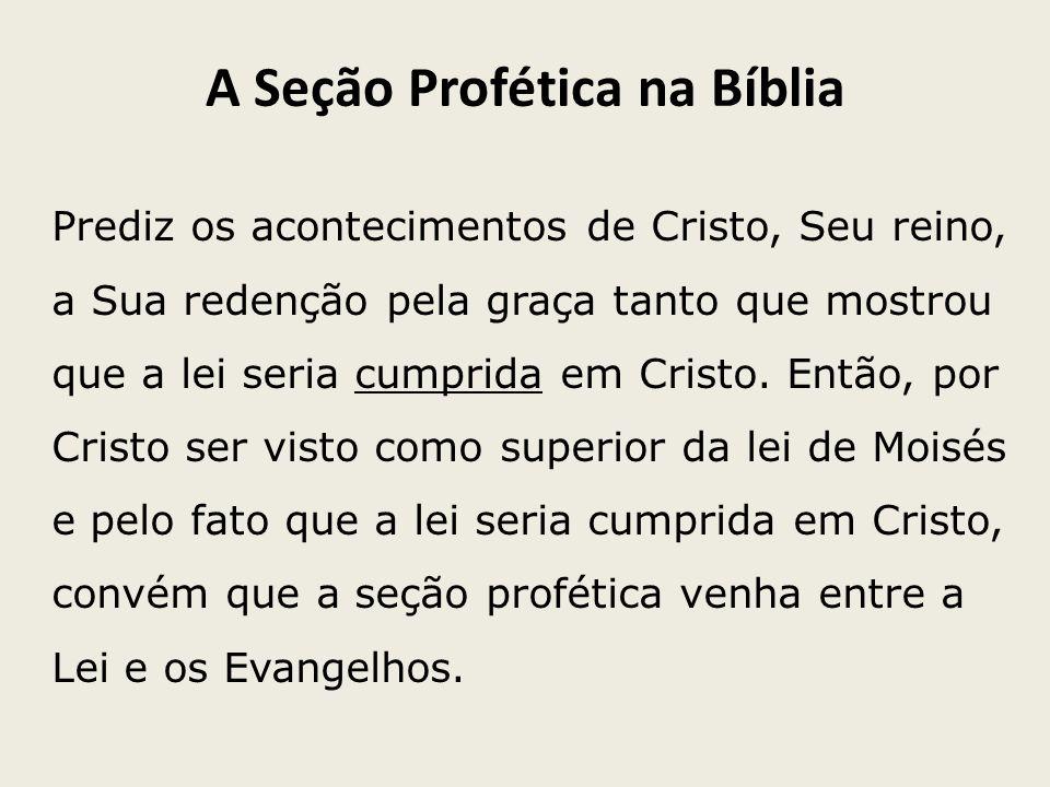 A Seção Profética na Bíblia