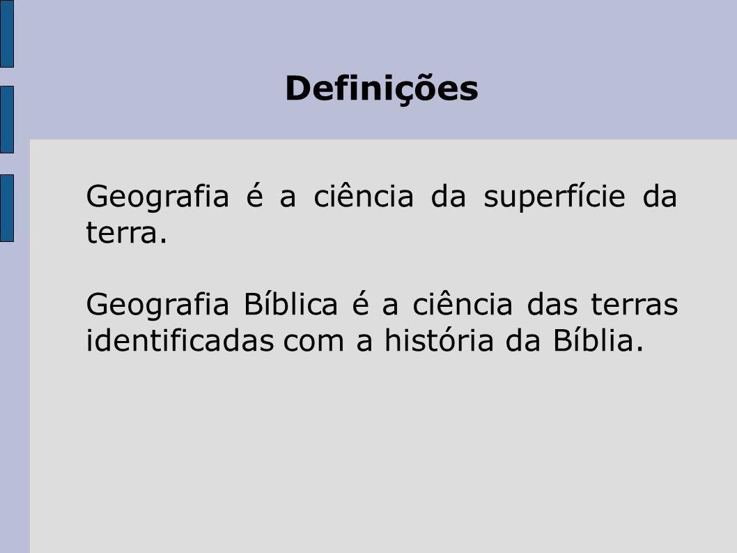 Definições Geografia é a ciência da superfície da terra.