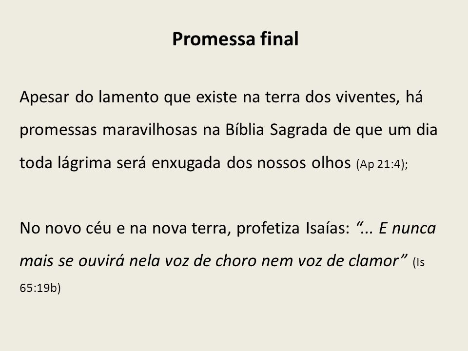 Promessa final