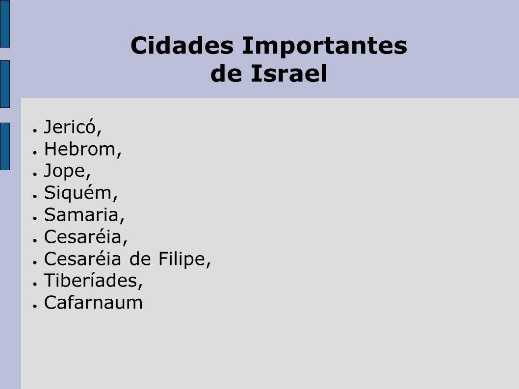 Cidades Importantes de Israel