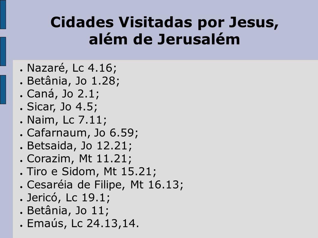 Cidades Visitadas por Jesus,