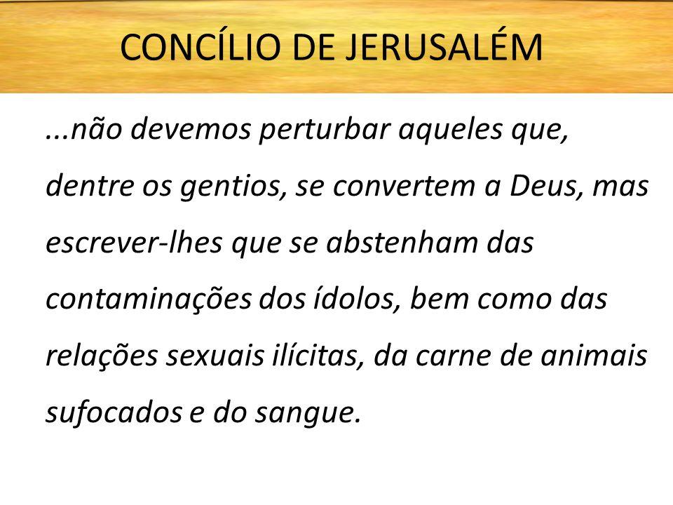CONCÍLIO DE JERUSALÉM