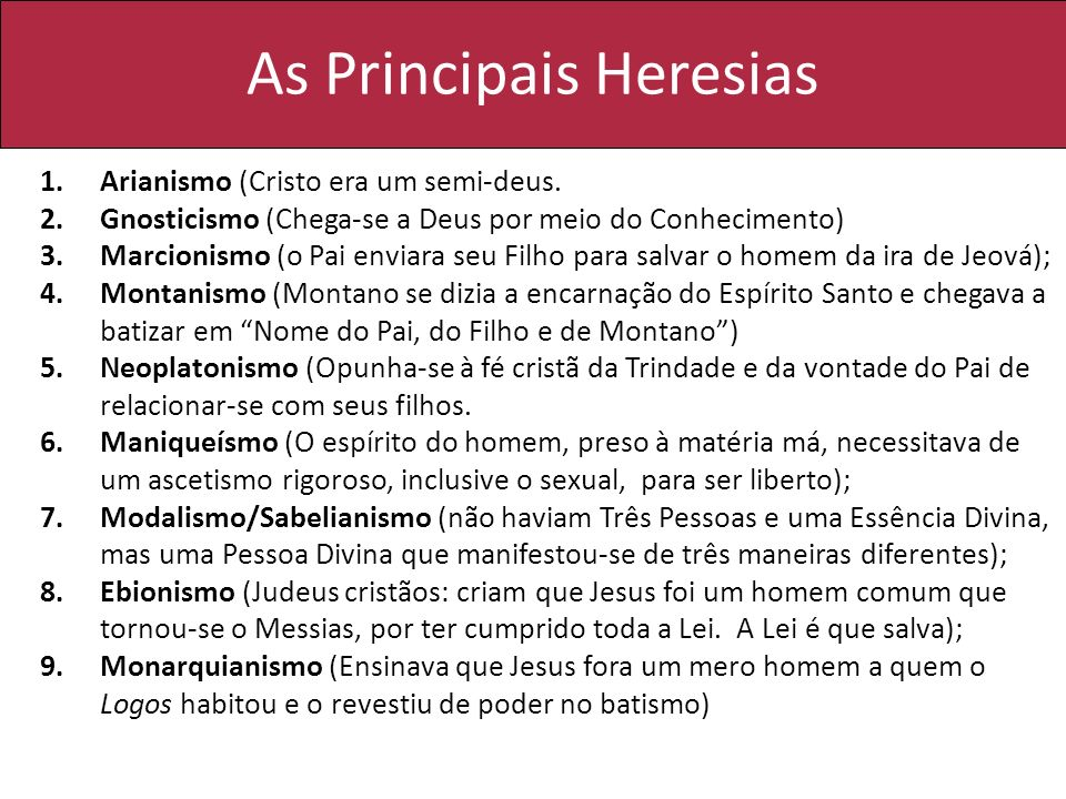 As Principais Heresias