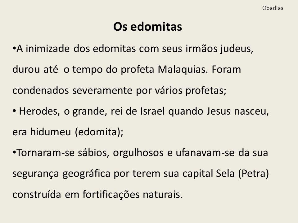Obadias Os edomitas.