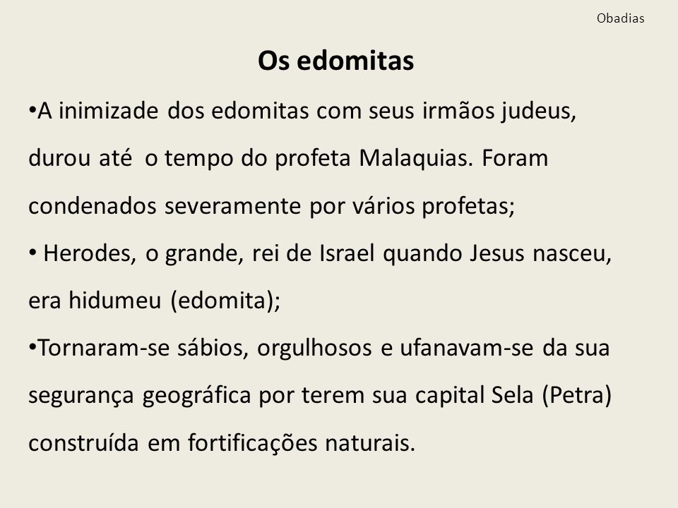ObadiasOs edomitas.