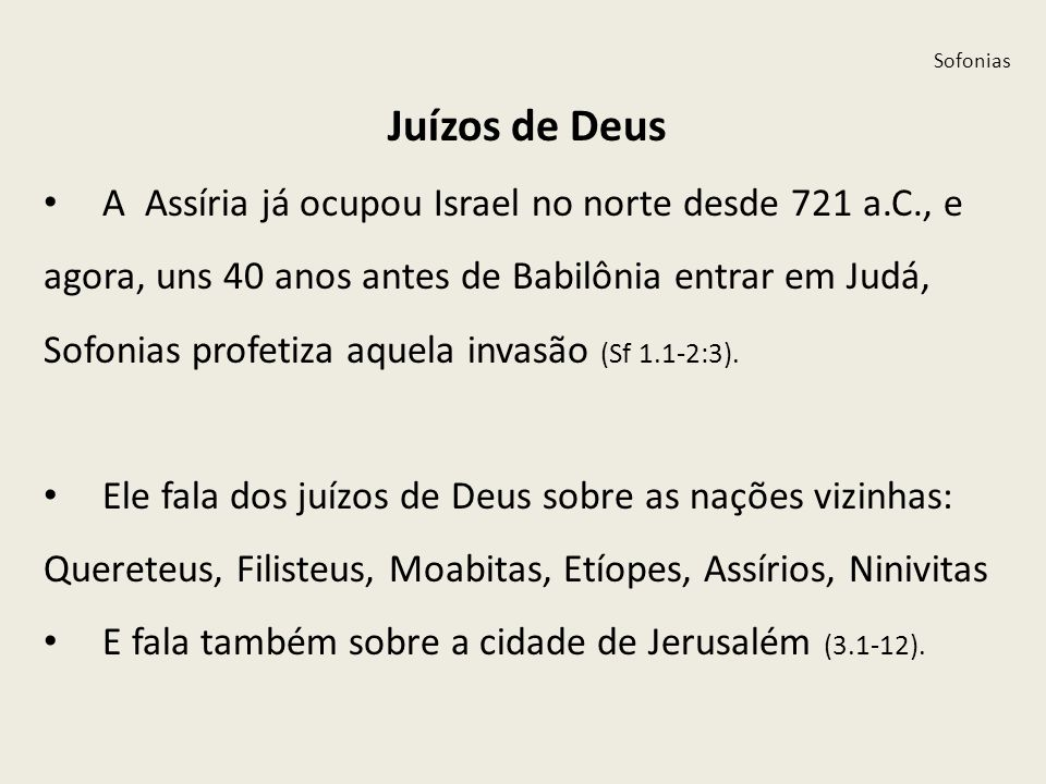 Sofonias Juízos de Deus.