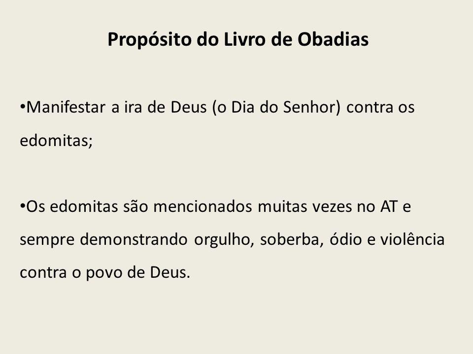 Propósito do Livro de Obadias