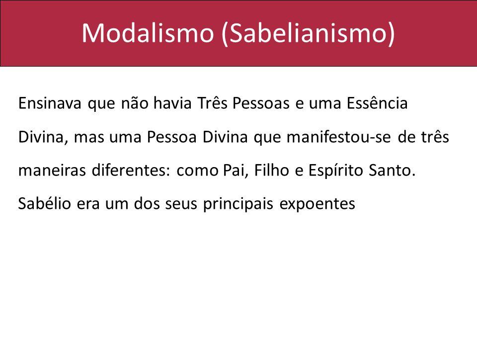 Modalismo (Sabelianismo)