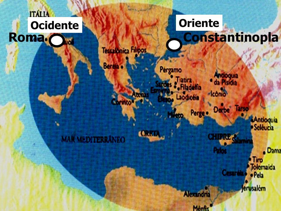 Oriente Ocidente Roma Constantinopla