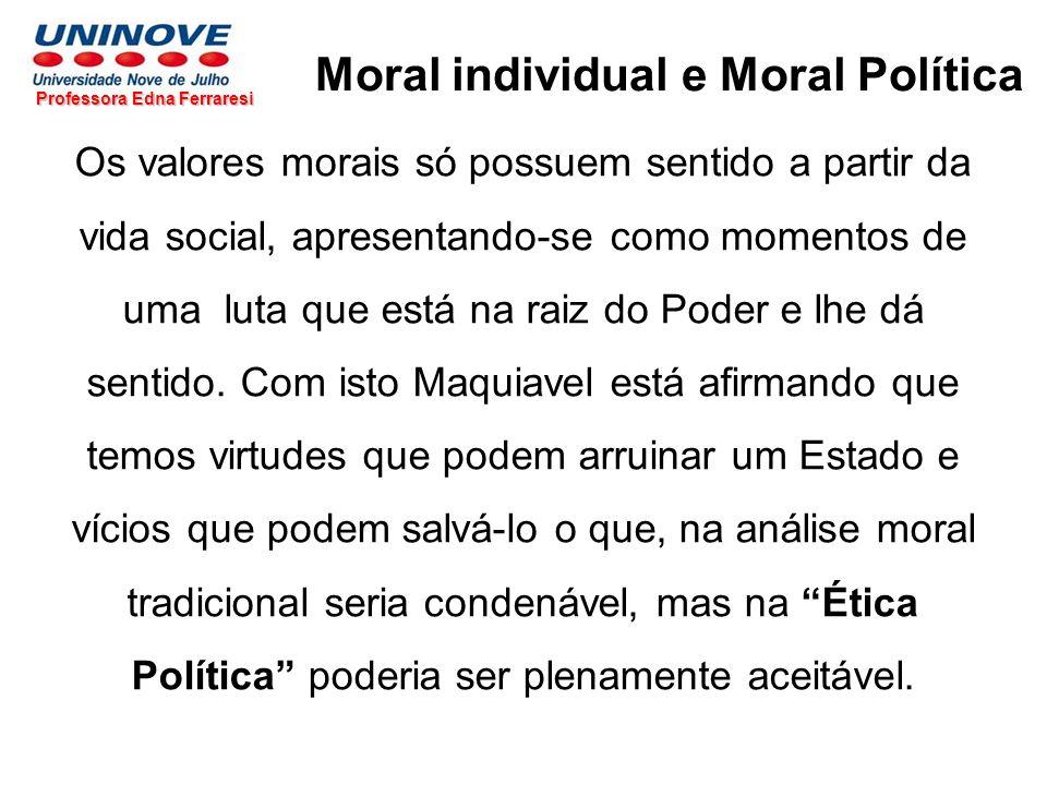 Moral individual e Moral Política