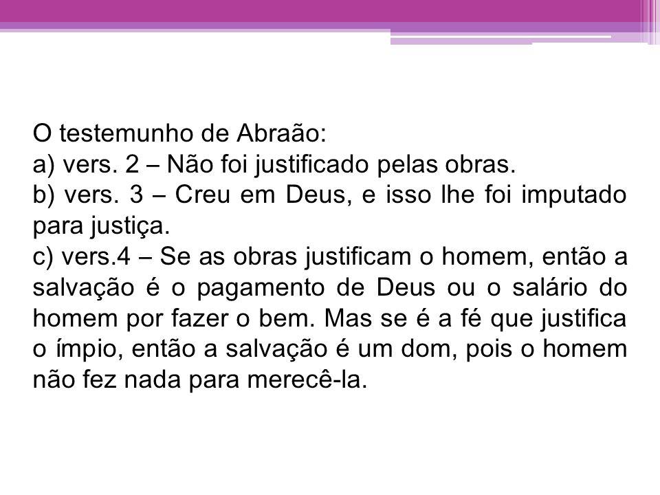 O testemunho de Abraão: