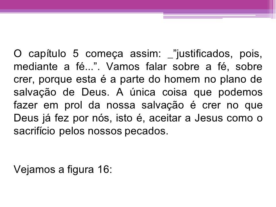 O capítulo 5 começa assim: _ justificados, pois, mediante a fé.