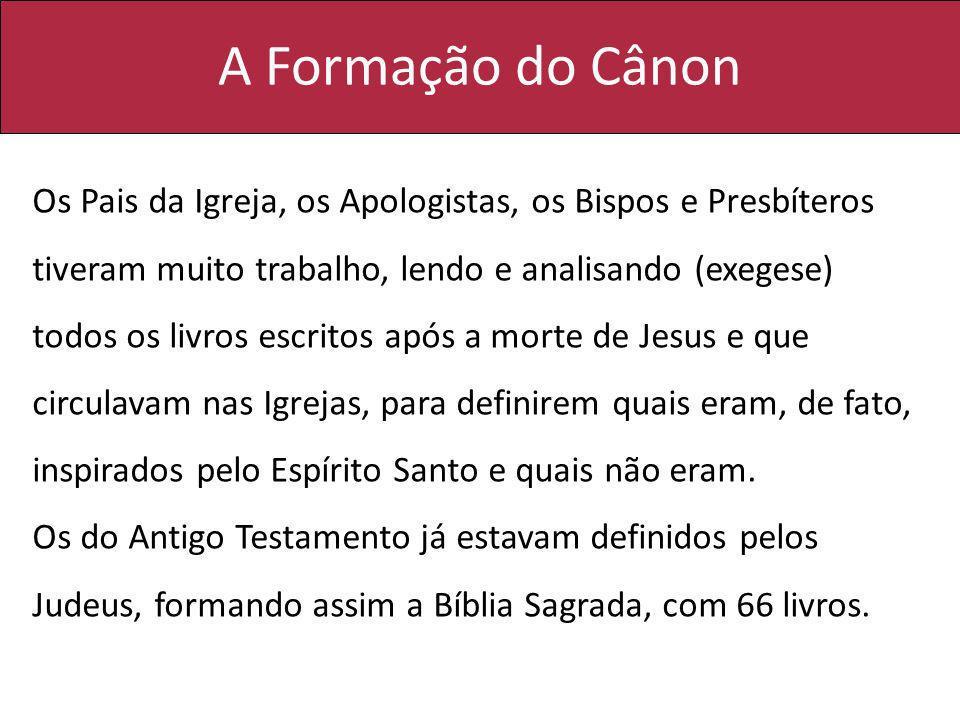 A Formação do Cânon
