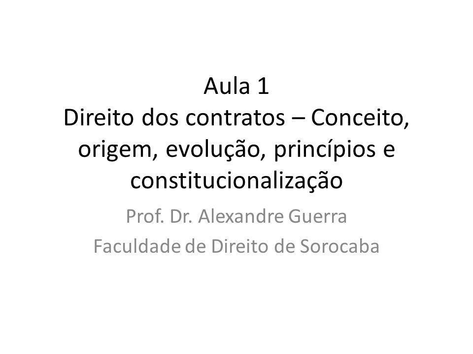 Prof. Dr. Alexandre Guerra Faculdade de Direito de Sorocaba