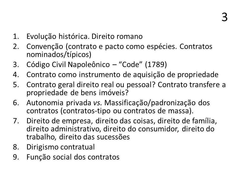 3 Evolução histórica. Direito romano