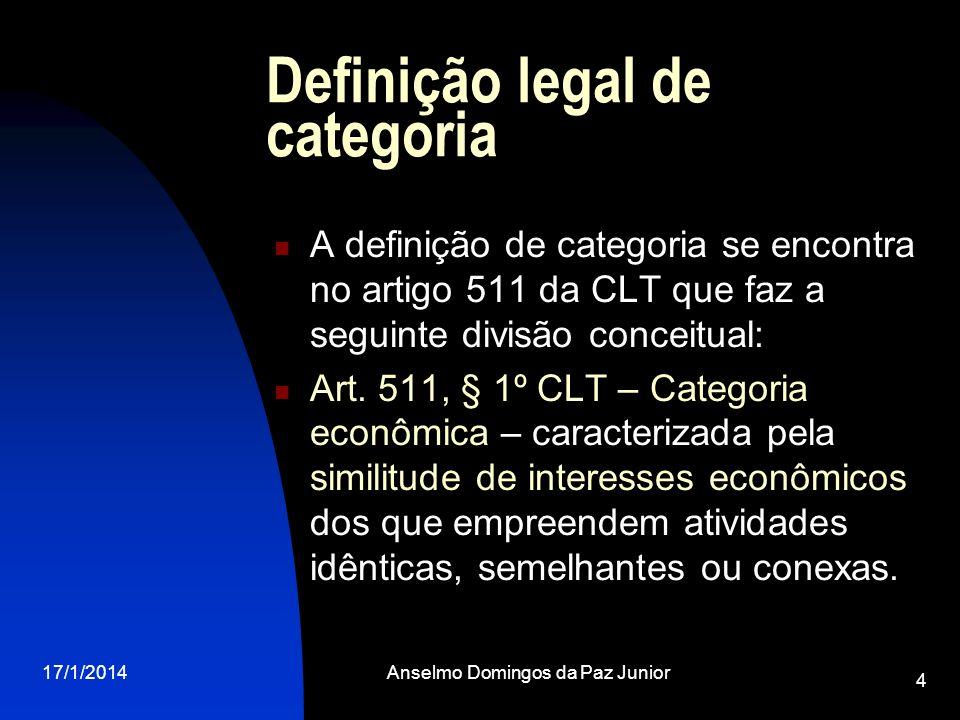 Definição legal de categoria