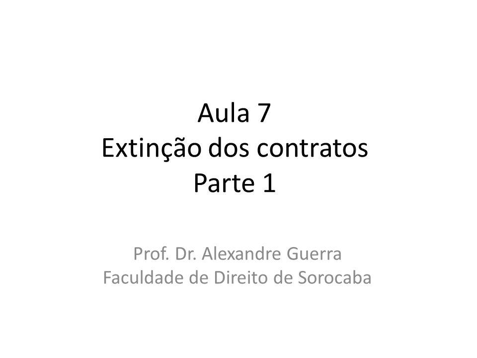 Aula 7 Extinção dos contratos Parte 1
