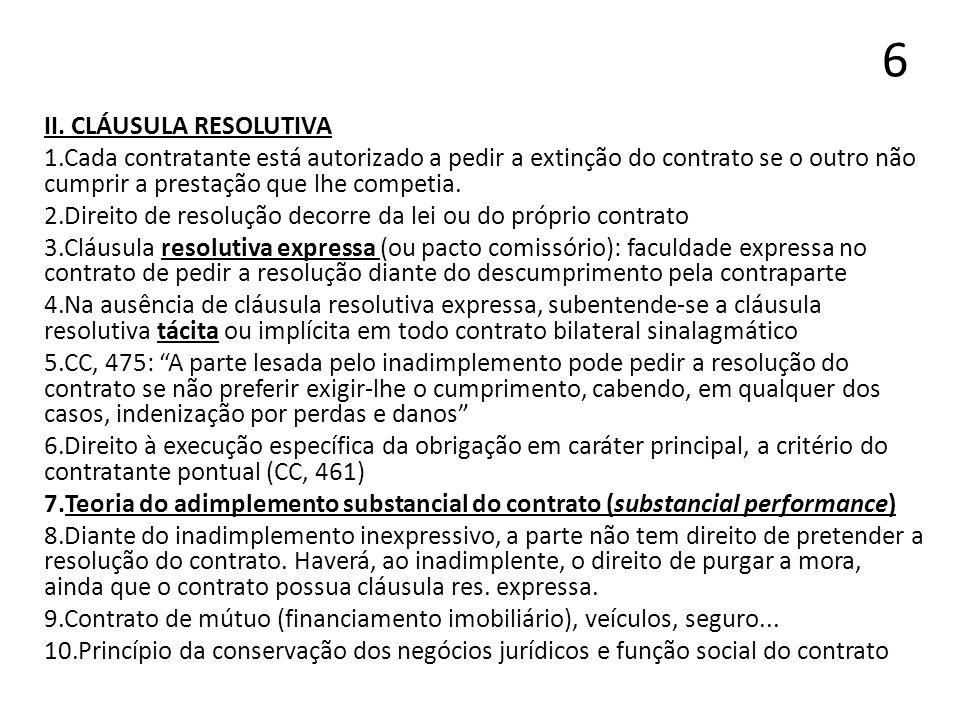 6 II. CLÁUSULA RESOLUTIVA