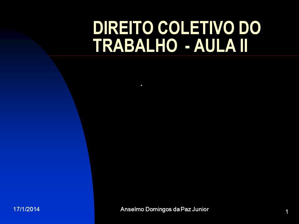 DIREITO COLETIVO DO TRABALHO - AULA II