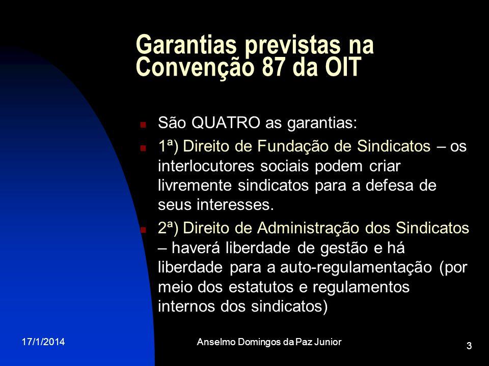 Garantias previstas na Convenção 87 da OIT