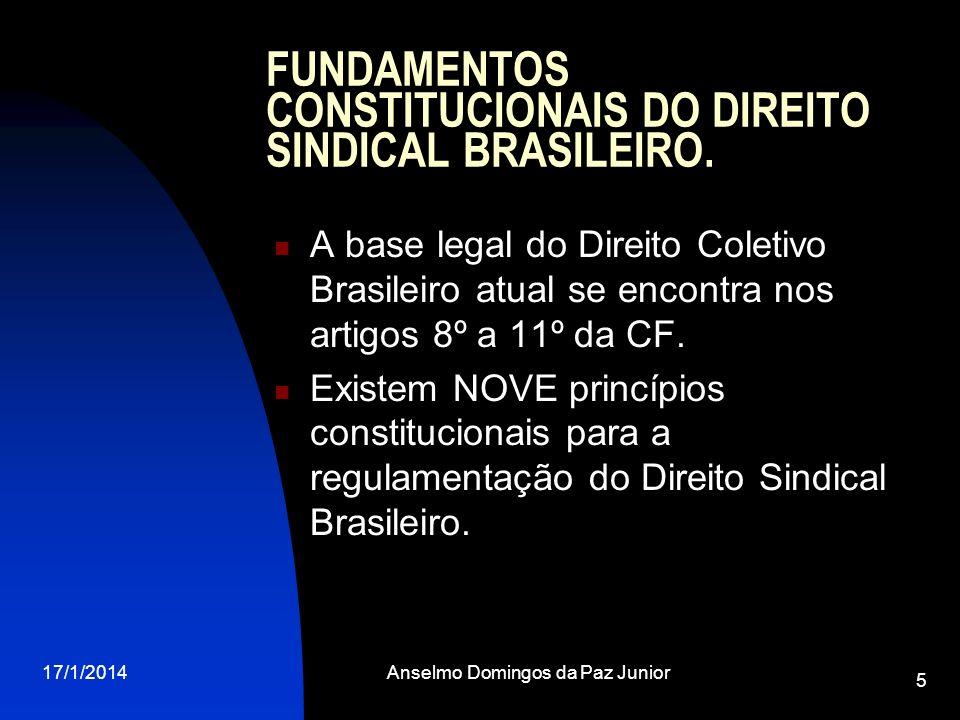 FUNDAMENTOS CONSTITUCIONAIS DO DIREITO SINDICAL BRASILEIRO.