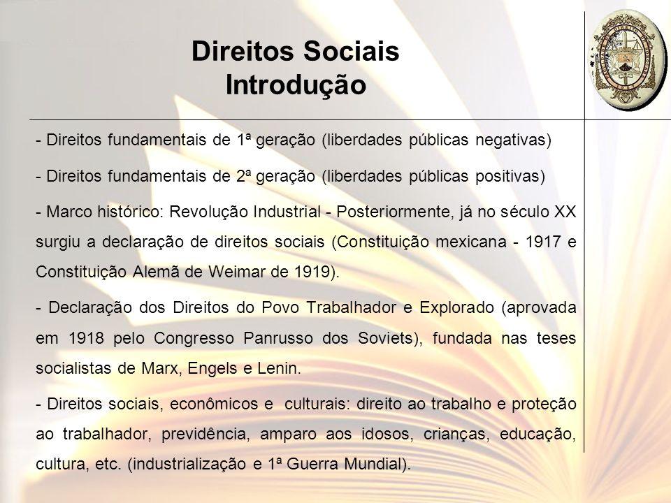 Direitos Sociais Introdução