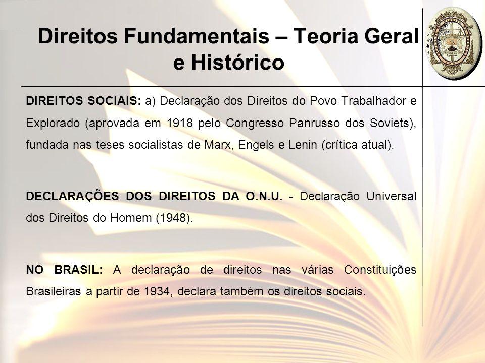 Direitos Fundamentais – Teoria Geral e Histórico