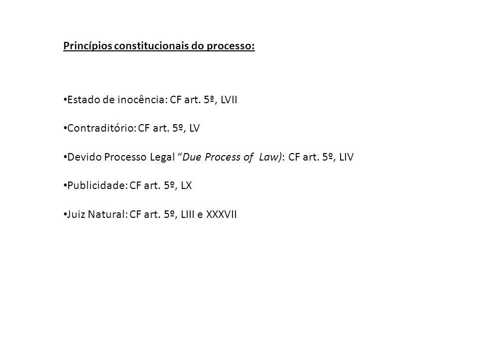 Princípios constitucionais do processo: