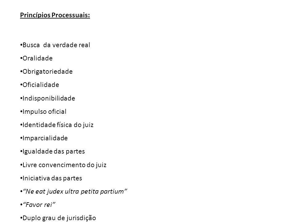 Princípios Processuais: