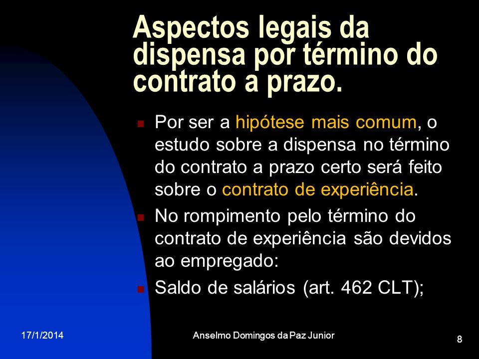 Aspectos legais da dispensa por término do contrato a prazo.