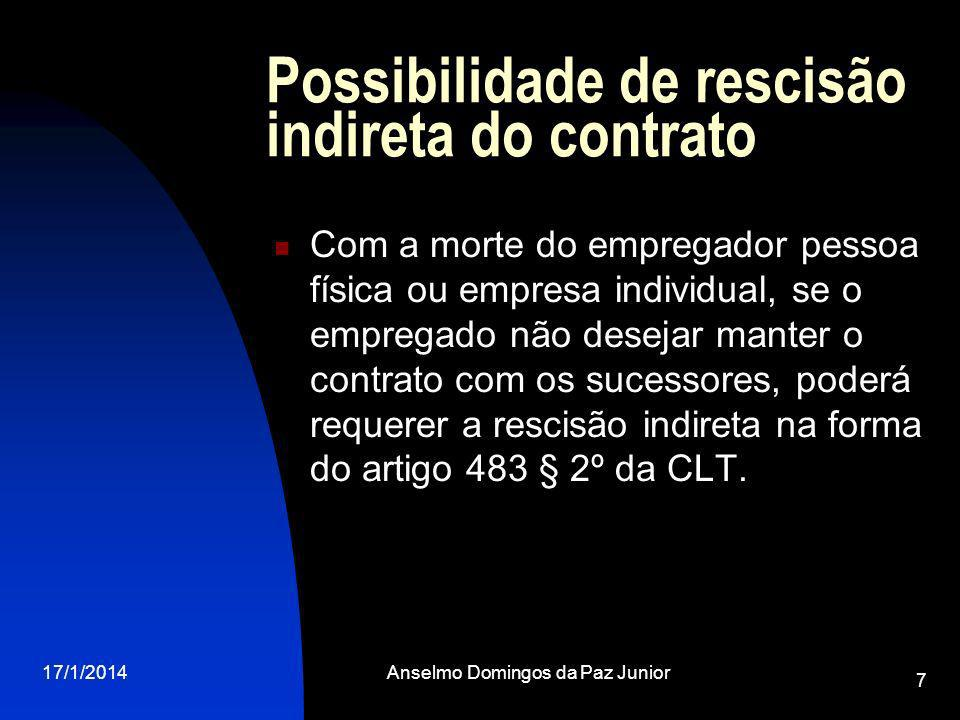 Possibilidade de rescisão indireta do contrato