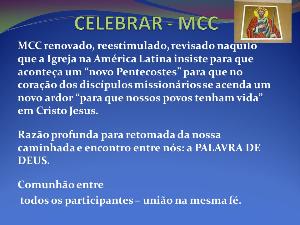 CELEBRAR - MCC