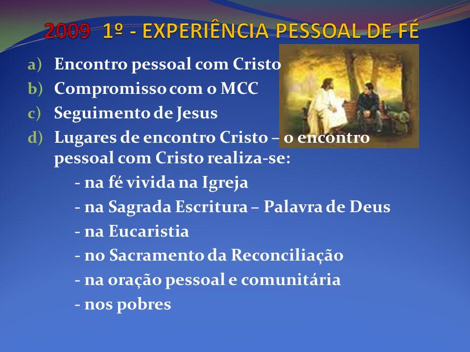2009 1º - EXPERIÊNCIA PESSOAL DE FÉ
