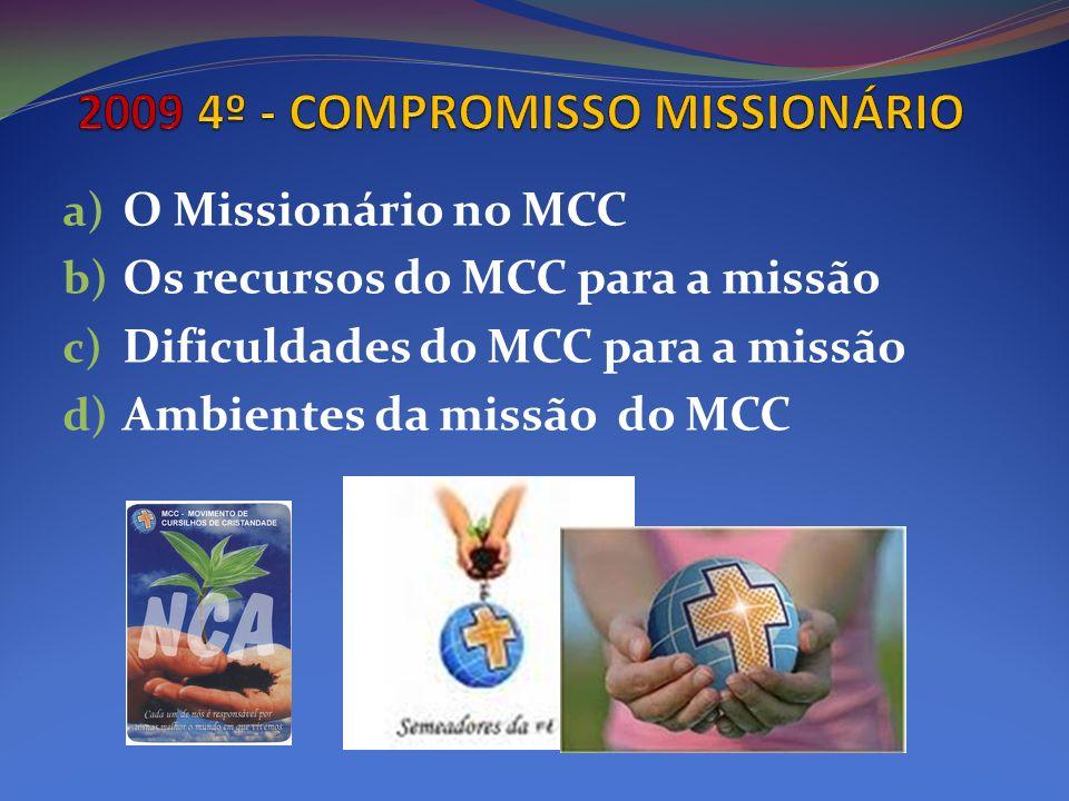 2009 4º - COMPROMISSO MISSIONÁRIO