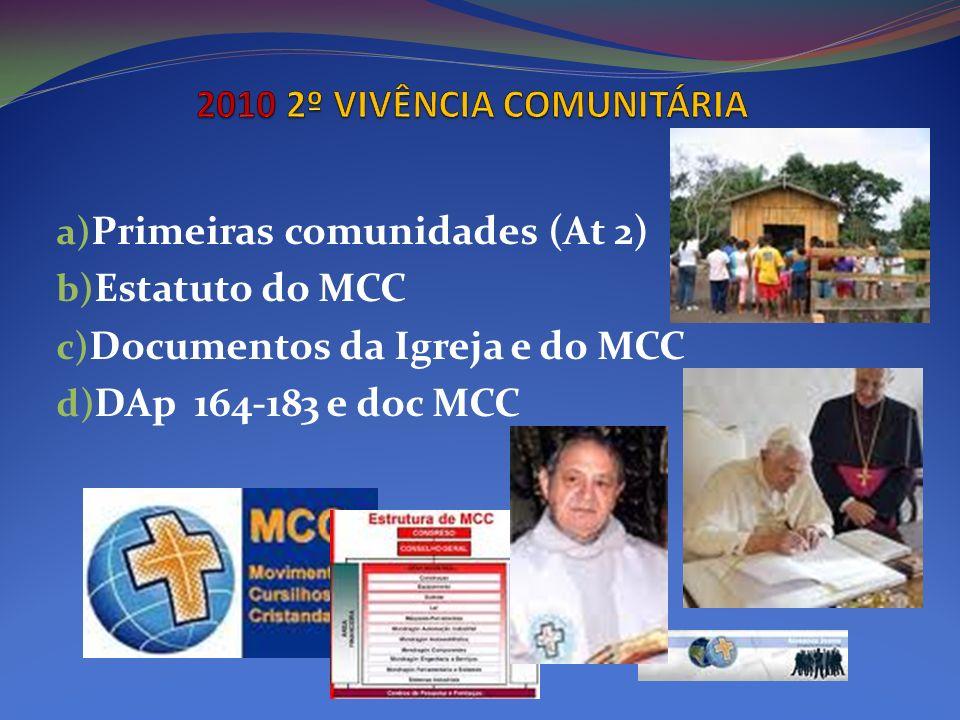 2010 2º VIVÊNCIA COMUNITÁRIA