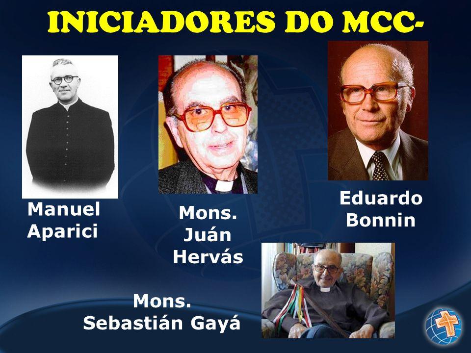 INICIADORES DO MCC- Eduardo Bonnin Manuel Aparici Mons. Juán Hervás