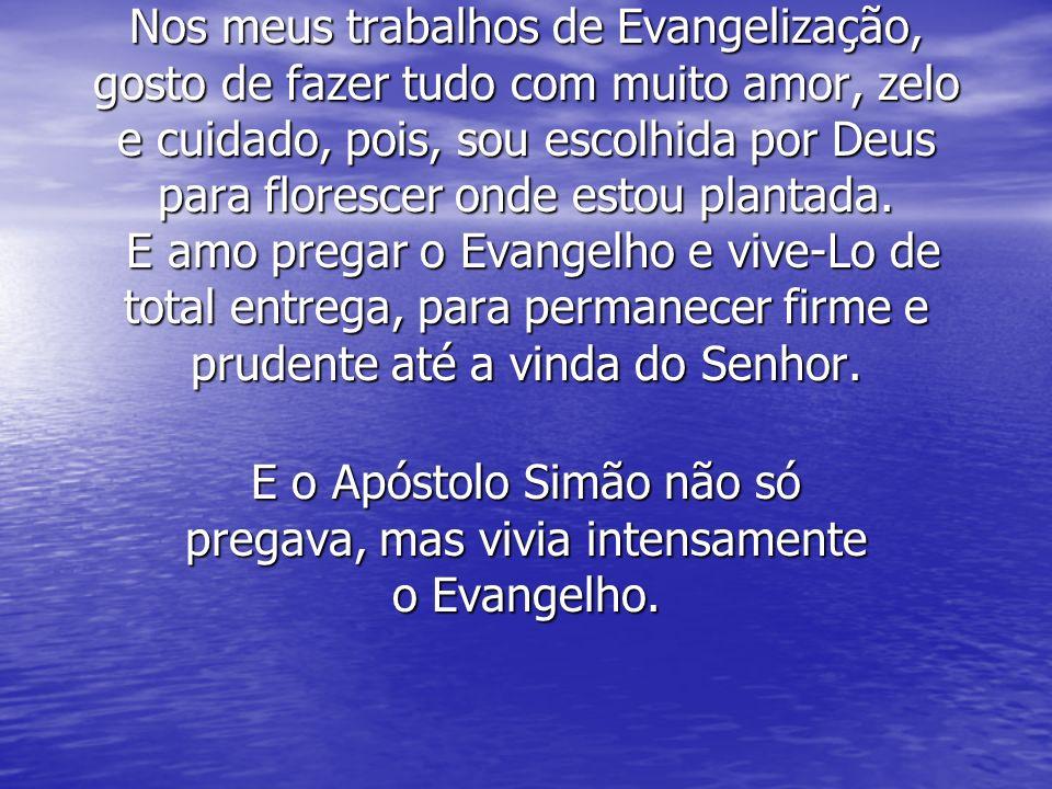 E o Apóstolo Simão não só pregava, mas vivia intensamente o Evangelho.