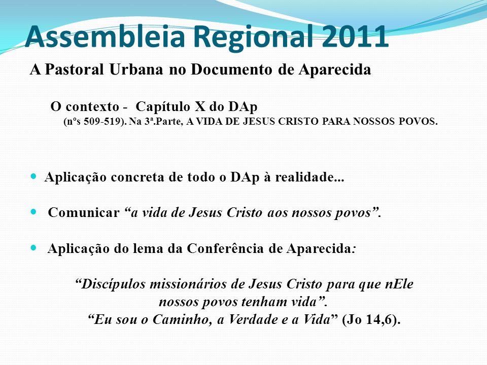 Assembleia Regional 2011 A Pastoral Urbana no Documento de Aparecida