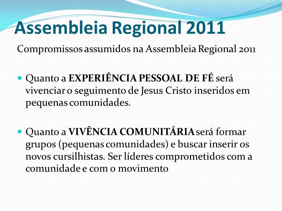 Assembleia Regional 2011 Compromissos assumidos na Assembleia Regional 2011.