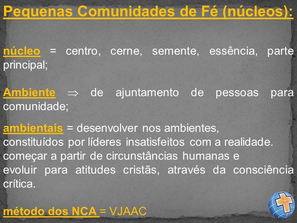 Pequenas Comunidades de Fé (núcleos):