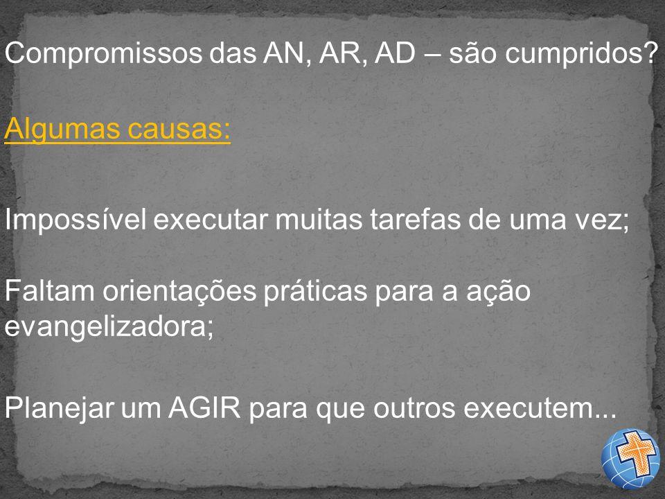 Compromissos das AN, AR, AD – são cumpridos