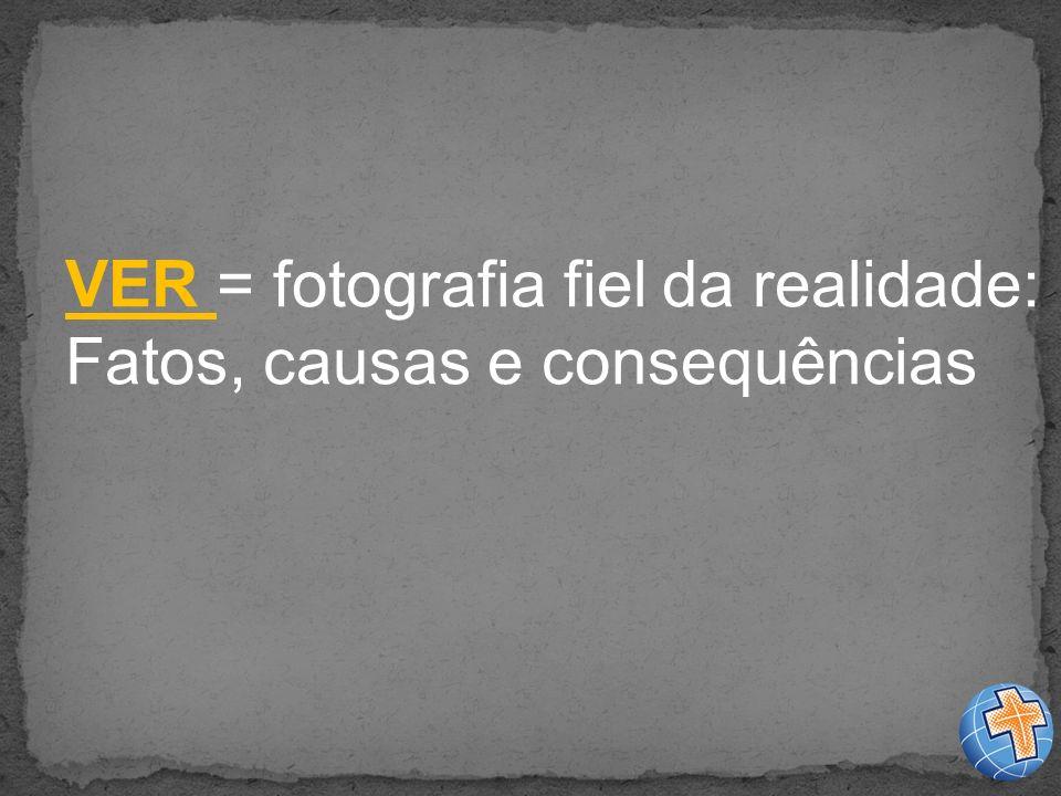 VER = fotografia fiel da realidade: