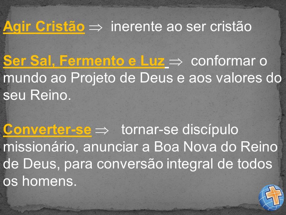 Agir Cristão  inerente ao ser cristão